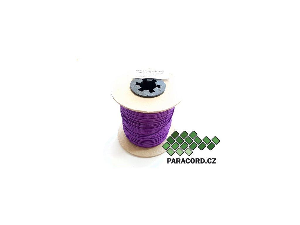 PES šňůra vyplétací 1,5mm (100m) - neon fialová
