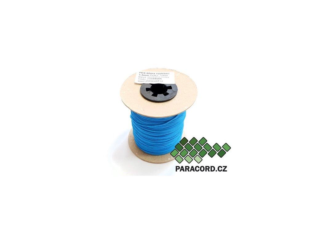 PES šňůra vyplétací 1,5mm (100m) - blankytná modrá