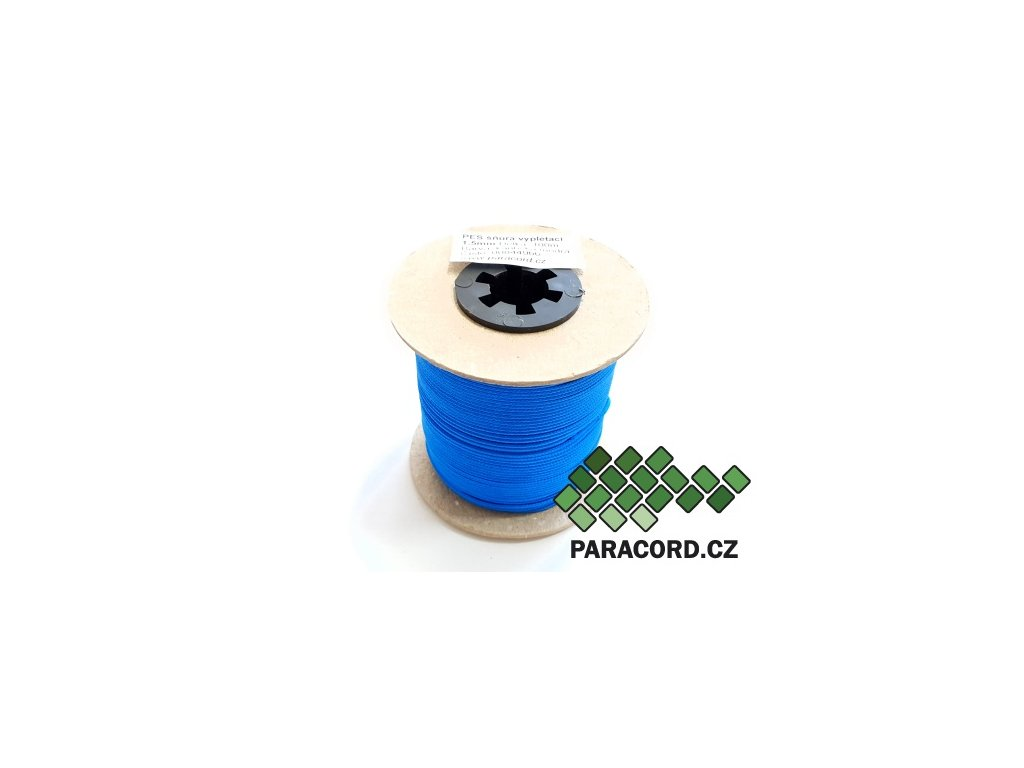 PES šňůra vyplétací 1,5mm (100m) - karibská modrá