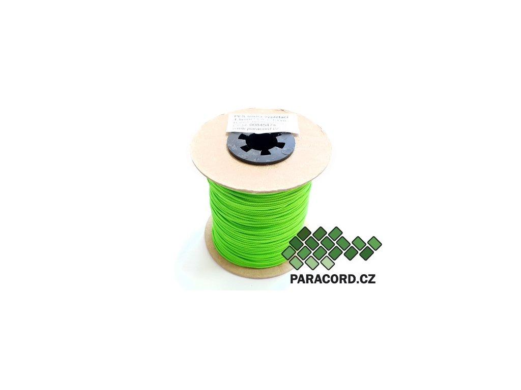 PES šňůra vyplétací 1,5mm (100m) - neon zelená