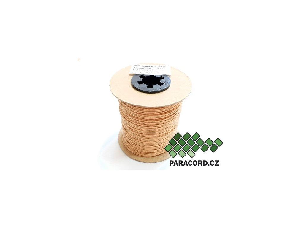 PES šňůra vyplétací 1,5mm (100m) - jílová