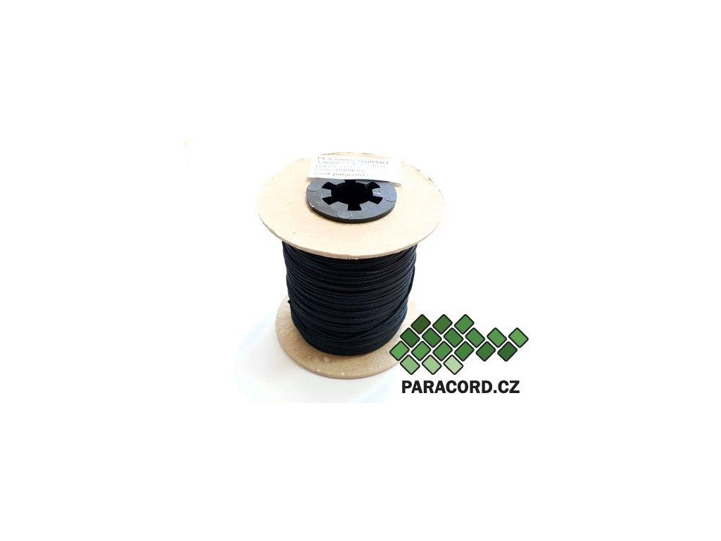 PES šňůra vyplétací 1,5mm (100m) - černá