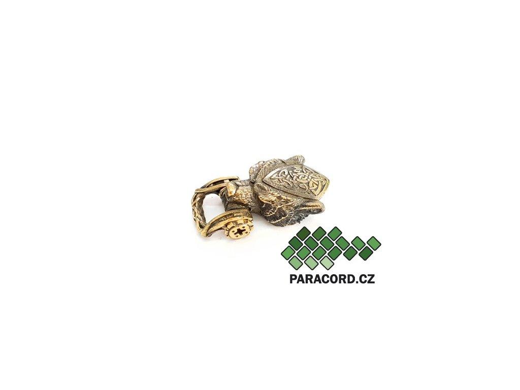 Spona ruční výroba - medvěd bronz