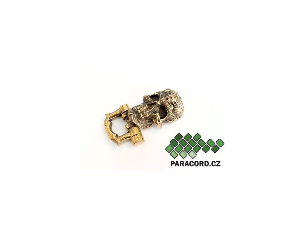 Spona ruční výroba - Cyberskull bronz