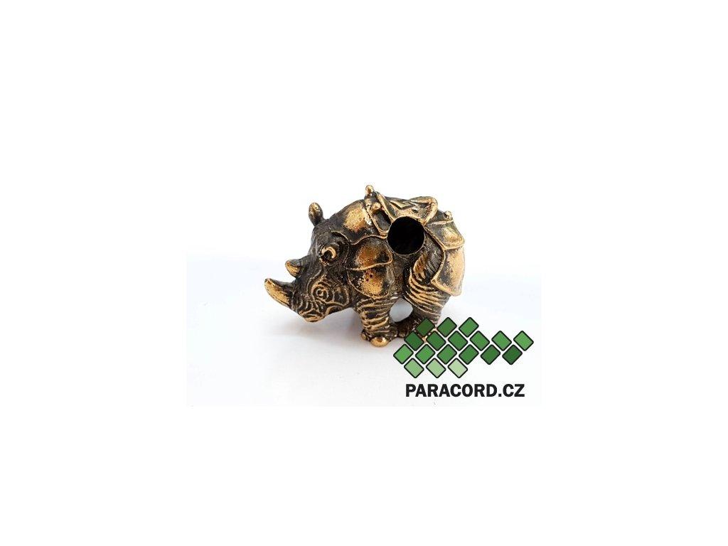 Korálek ruční výroba - nosorožec