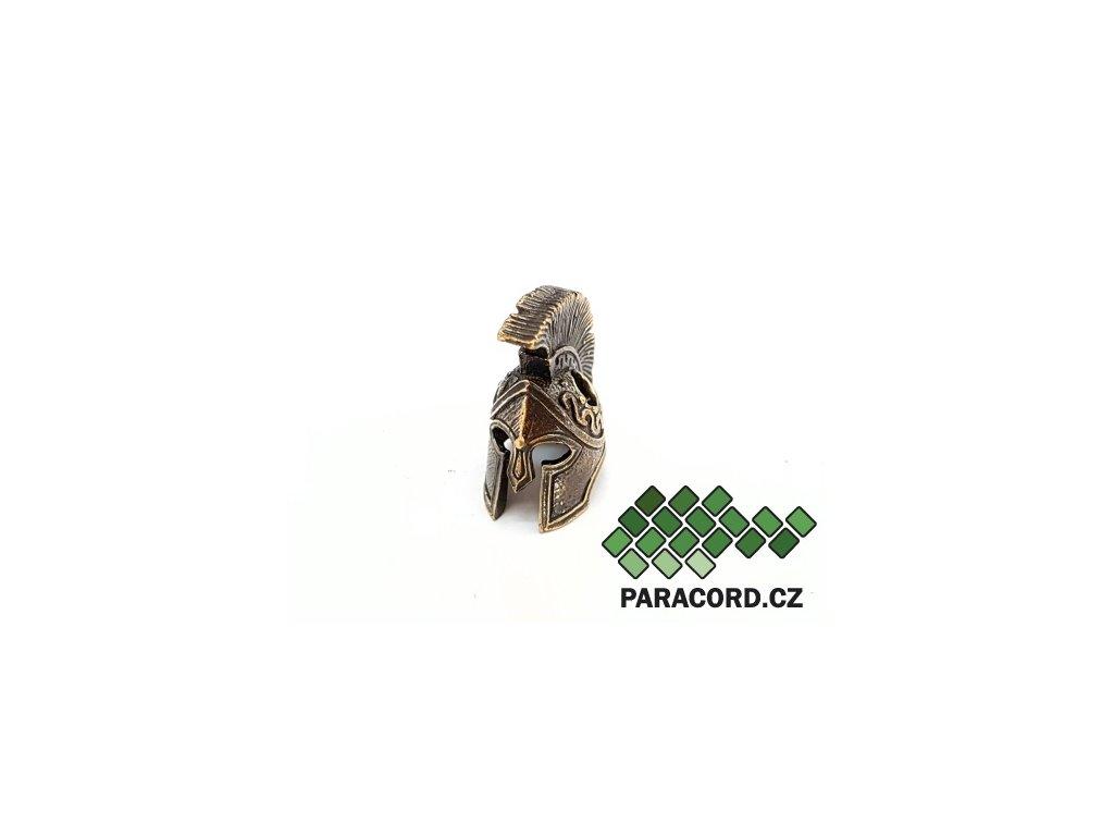 Korálek ruční výroba - Spartan bronz