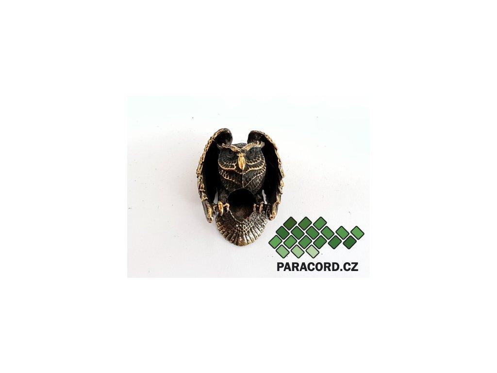 Korálek ruční výroba - sova