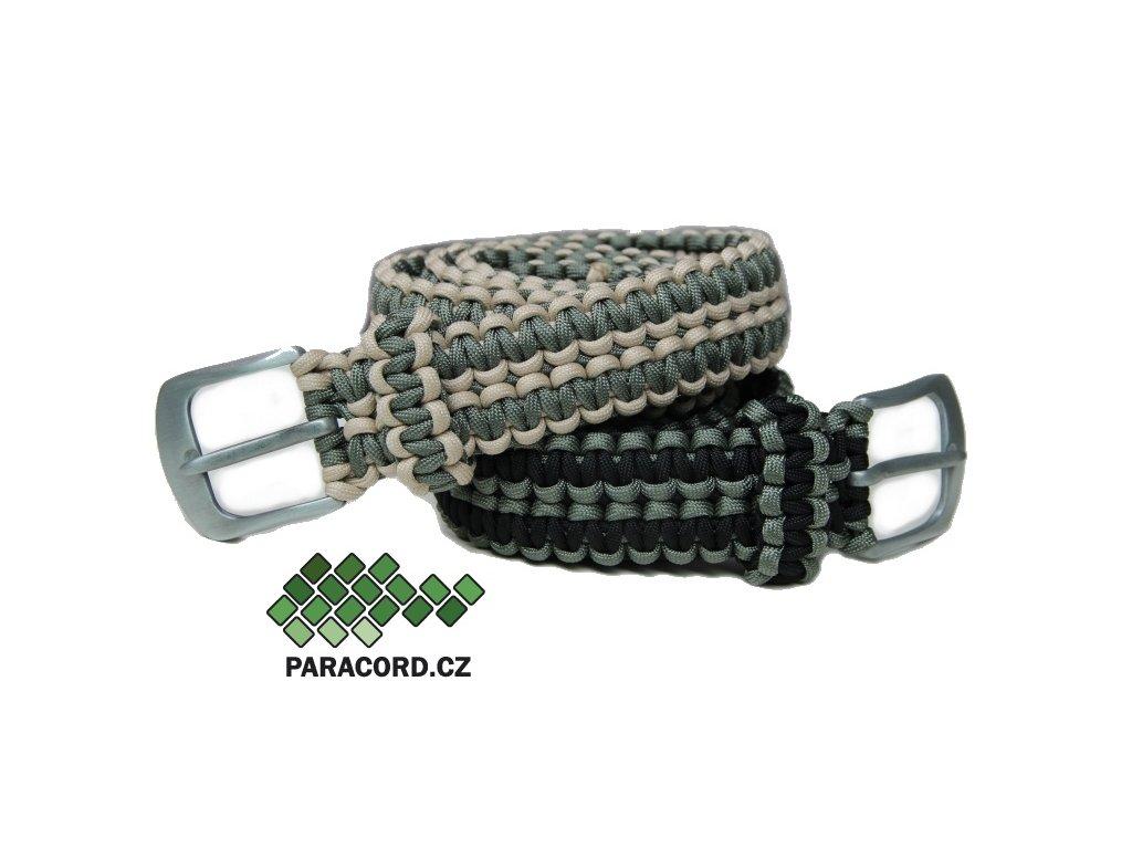 """Paracord survival opasek - DVOUBAREVNÝ """"na míru"""" (vlastní barvy, spona, délka)"""