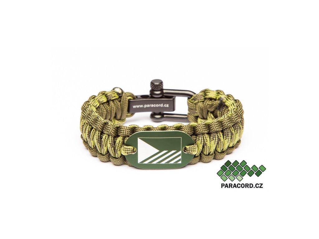 Survival paracord náramek AČR - bojová vlajka zelená