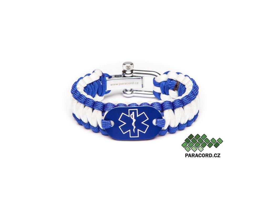 Survival paracord náramek ZDRAVOTNÍK - modrý