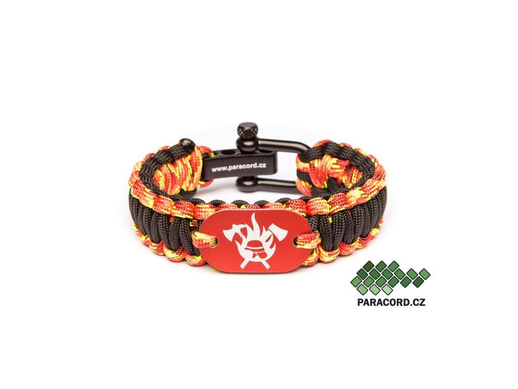 Survival paracord náramek HASIČ - fireball