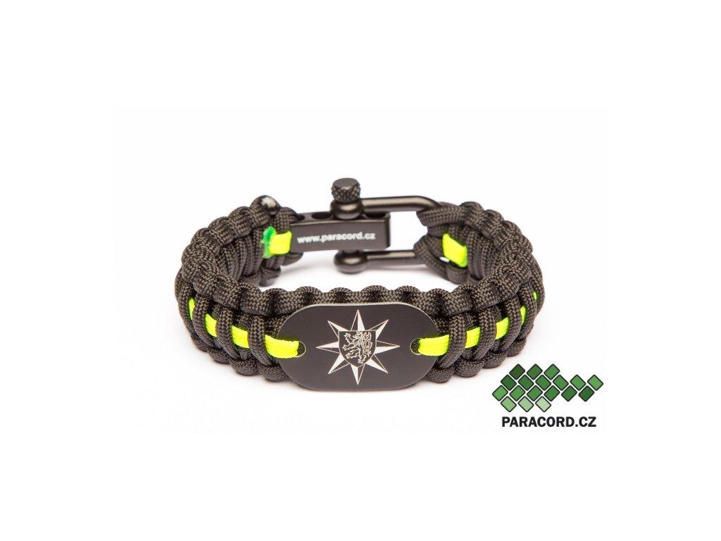 Survival paracord náramek PČR - černý