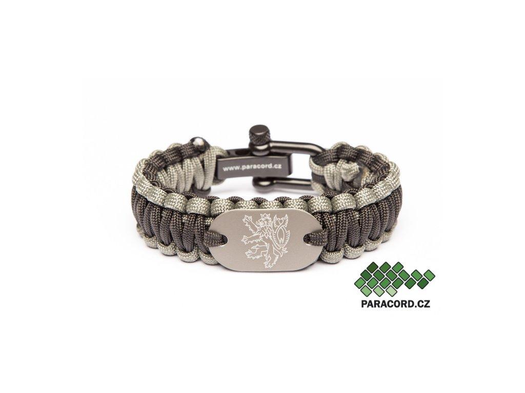 Survival paracord náramek ČR - lev
