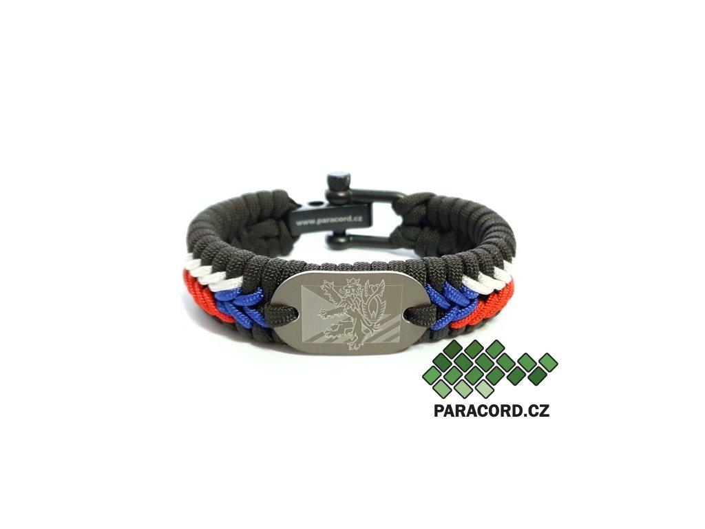Survival paracord náramek TRIKOLÓRA DELUXE