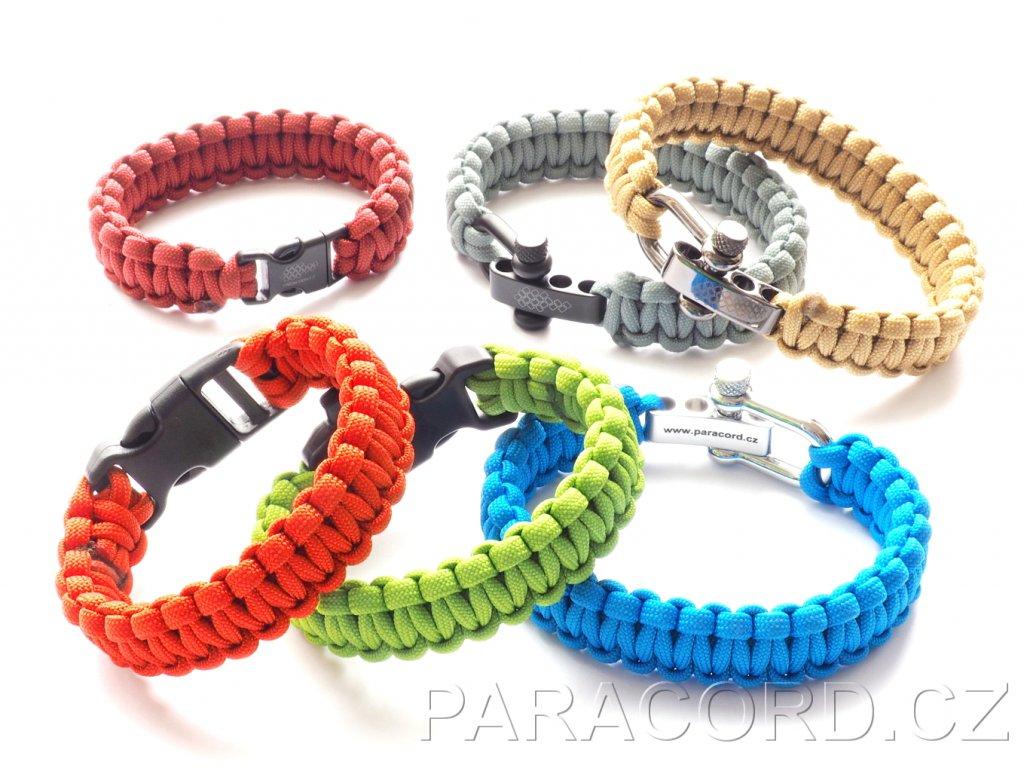 32055 survival paracord naramek na miru vlastni barva spona vzor kobra uzsi