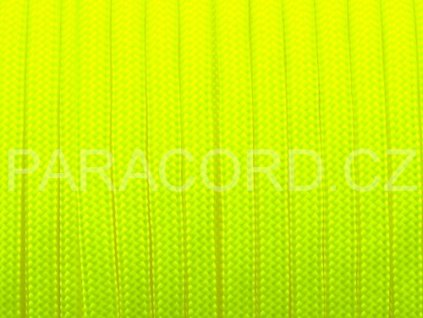 Paracord 550 - neon žlutá