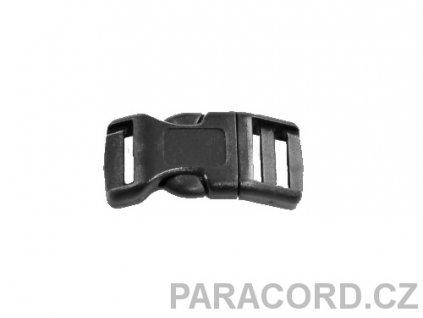 spona trojzubec - černá (13mm)