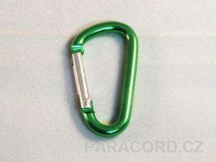 karabinka (5cm) - zelená