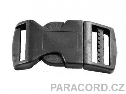 spona trojzubec - černá (25mm)