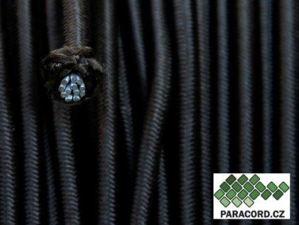 SHOCK CORD elastické lanko - černá