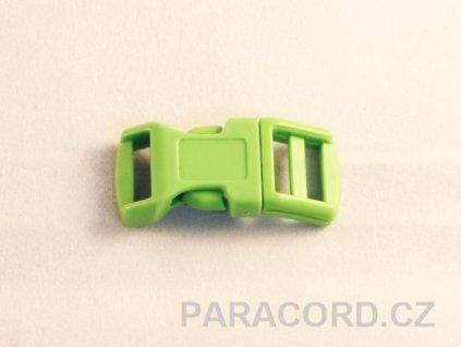 spona trojzubec - zelená (13mm)