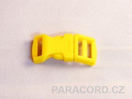 spona trojzubec - žlutá (13mm)