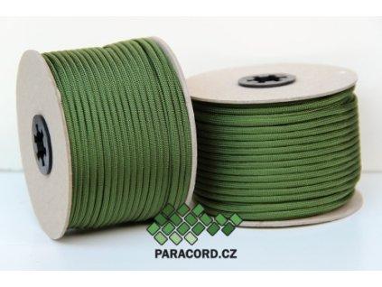 Paracord 550 - špulka 50m TMAVĚ ZELENÁ