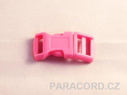 spona trojzubec - růžová (13mm)