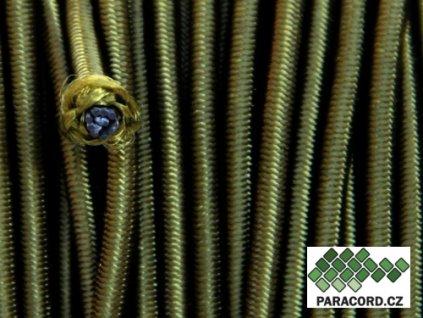 SHOCK CORD elastické lanko - oliv