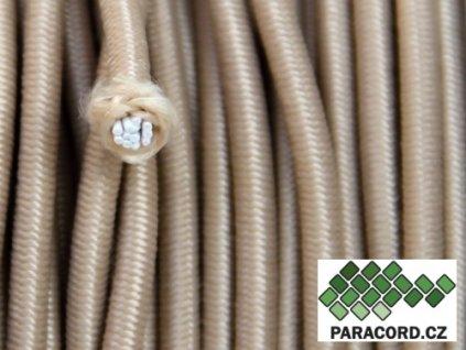 SHOCK CORD elastické lanko - písková