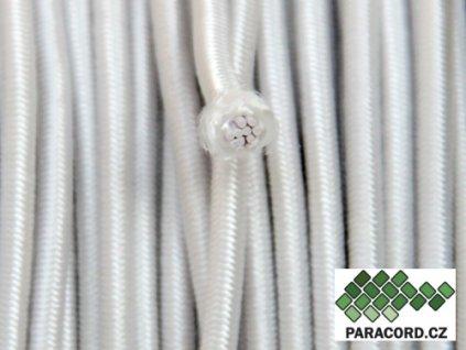 SHOCK CORD elastické lanko - bílá
