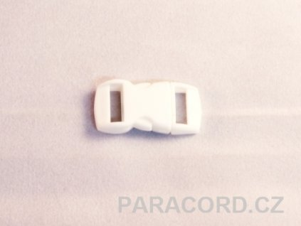 spona trojzubec - bílá (10mm)