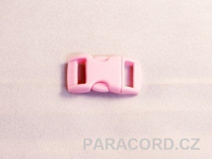 spona trojzubec - růžová (10mm)