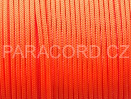 Paracord 100 - neon oranžová