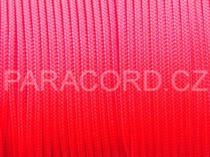 Paracord 100 - neon růžová