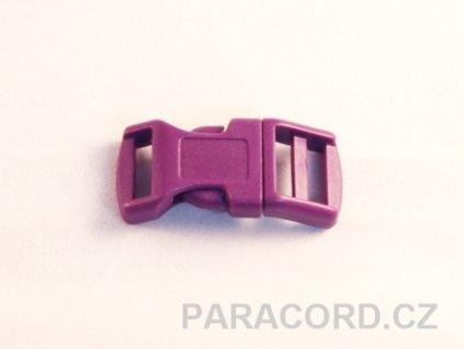 spona trojzubec - fialová (13mm)