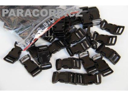 100ks spona trojzubec - černá (16mm)