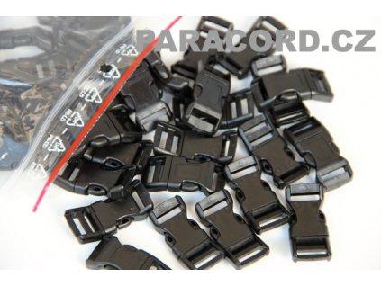 100ks spona trojzubec - černá (13mm)