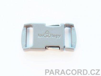 KNOTTOLOGY NITO .5 kovová spona - šedá