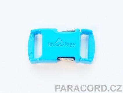KNOTTOLOGY NITO .5 kovová spona - neon modrá