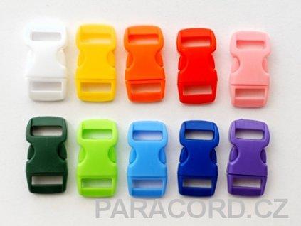 10ks spona trojzubec - barevný mix (10mm)