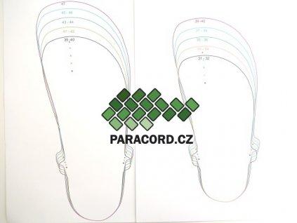 Šablona na výrobu sandálů