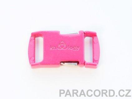 KNOTTOLOGY NITO .5 kovová spona - neon růžová