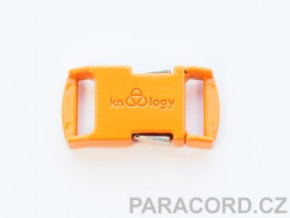 KNOTTOLOGY NITO .5 kovová spona - oranžová