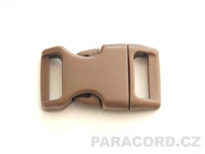 spona trojzubec - hnědá (16mm)