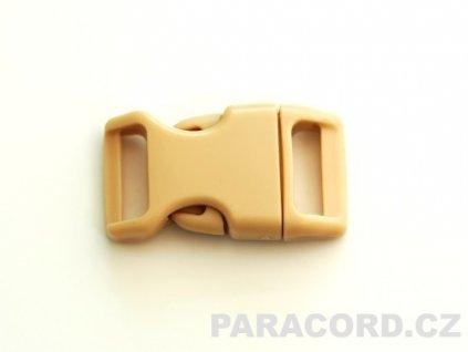 spona trojzubec - písková (16mm)