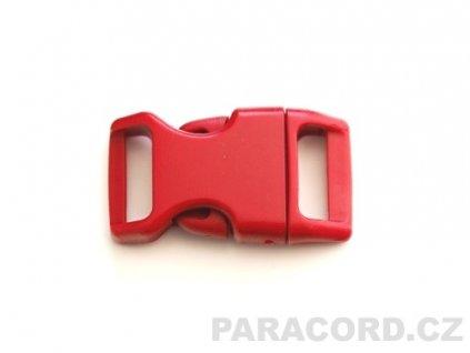 spona trojzubec - červená tmavá (16mm)