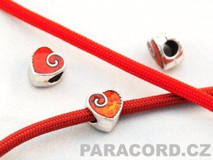 Korálek kovový - srdce