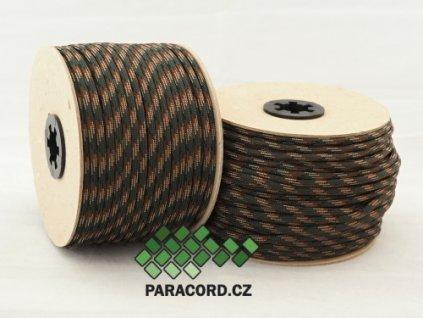Paracord 550 - špulka 50m WOODLAND