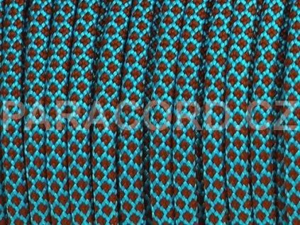 Paracord 550 - BLUE/BROWN DIAMONDS